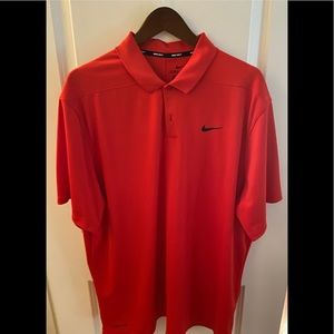 Red Nike polo